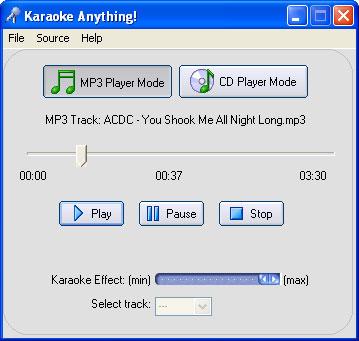 Karaoke Anything 1.0 - Αφαιρέσετε τα φωνητικά από οποιοδήποτε τραγούδι! Screenshot